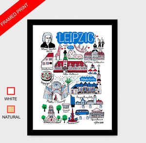 Leipzig Art Print by British Travel Artist Julia Gash - Julia Gash