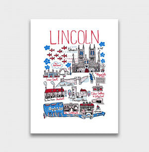 Lincoln Art Print by British Travel Artist Julia Gash - Julia Gash