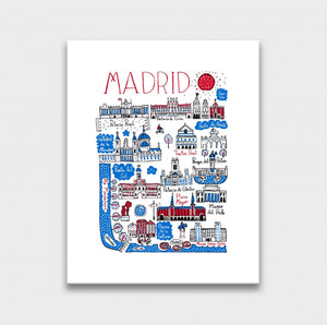 Madrid Art Print by British Travel Artist Julia Gash - Julia Gash
