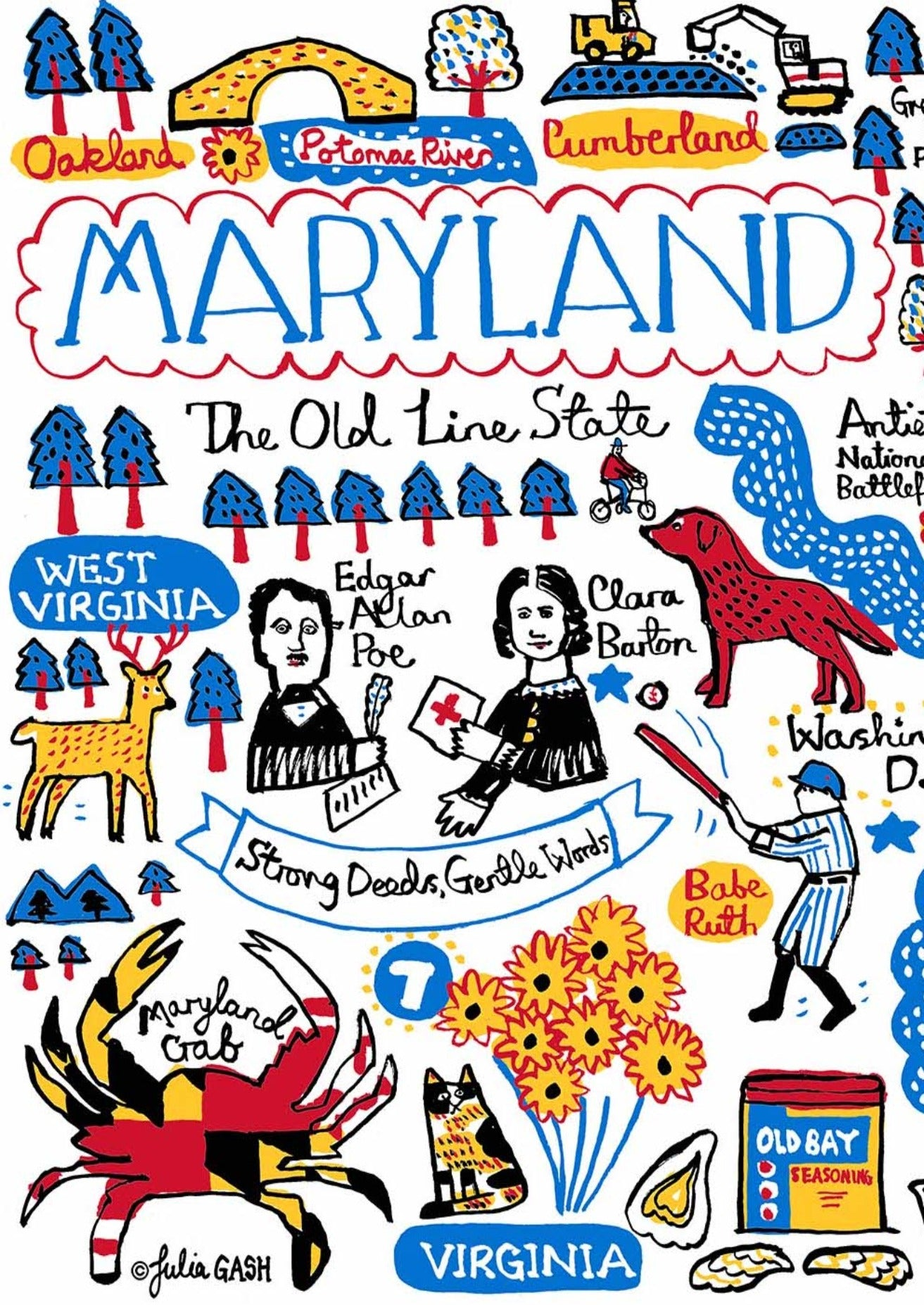 Maryland Art Print - Julia Gash