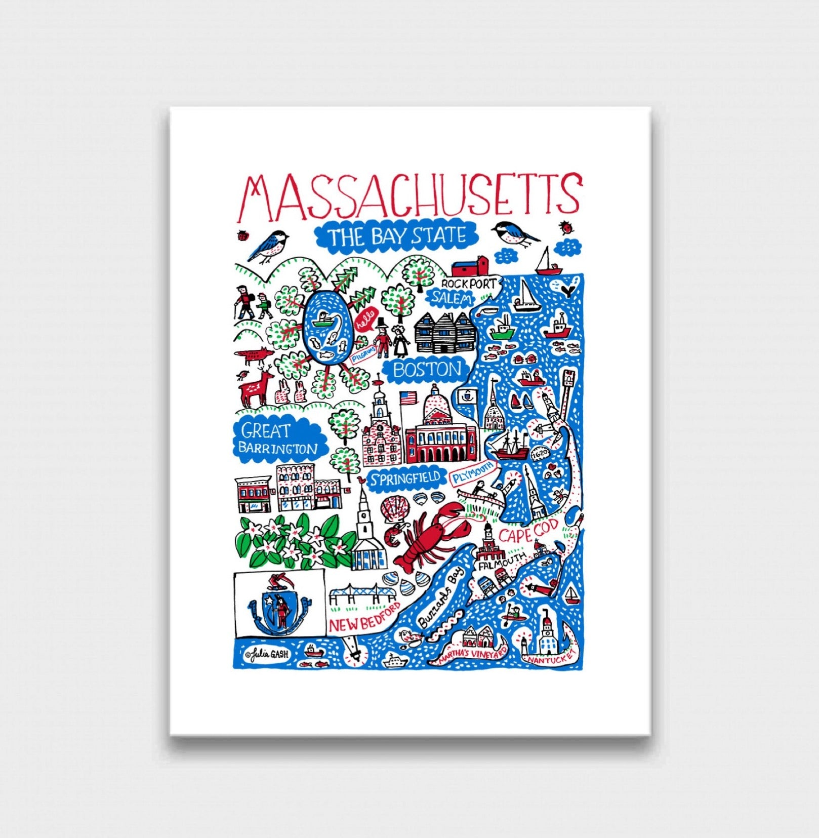 Massachusetts Art Print - Julia Gash