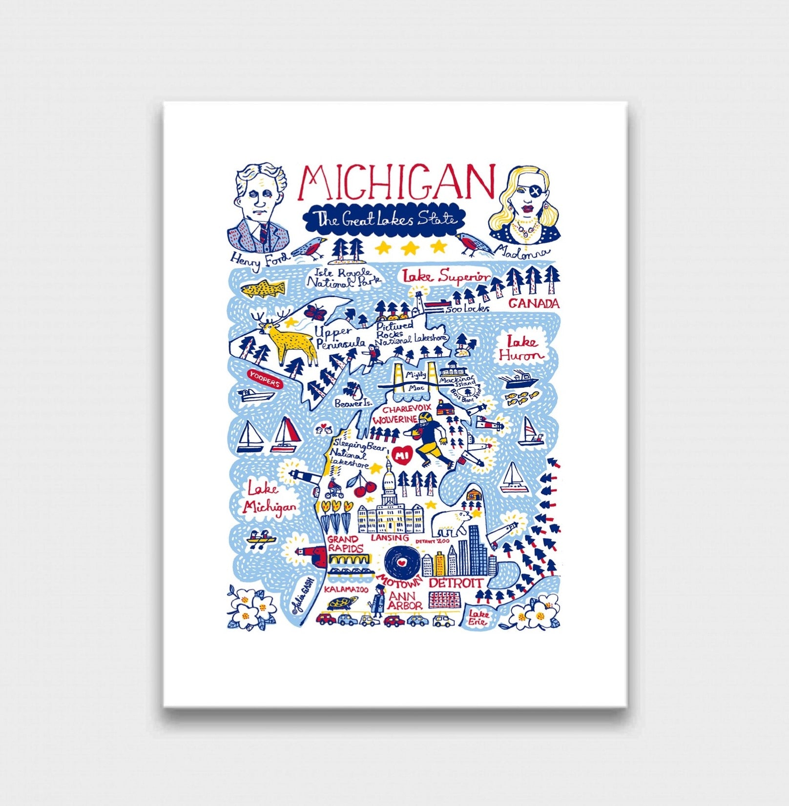 Michigan Art Print - Julia Gash