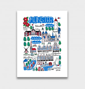 Munster Art Print by British Travel Artist Julia Gash - Julia Gash