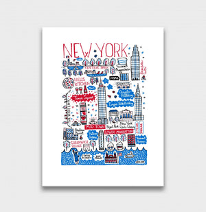 New York Art Print by British Travel Artist Julia Gash - Julia Gash