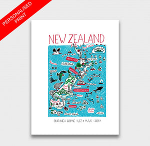 New Zealand Art Print - Julia Gash