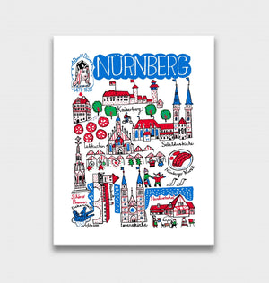 Nurnberg Art Print by British Travel Artist Julia Gash - Julia Gash