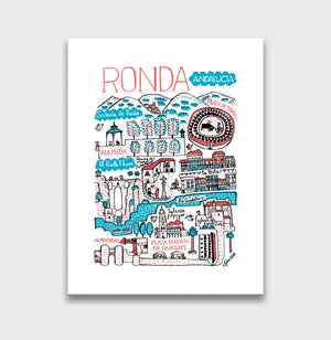 Ronda Art Print by British Travel Artist Julia Gash - Julia Gash