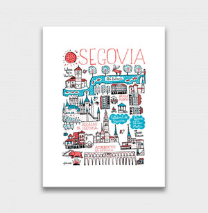 Segovia Art Print by British Travel Artist Julia Gash - Julia Gash
