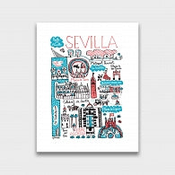 Sevilla Art Print by British Travel Artist Julia Gash - Julia Gash