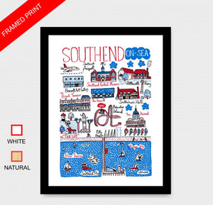 Southend On Sea Art Print by British Travel Artist Julia Gash - Julia Gash