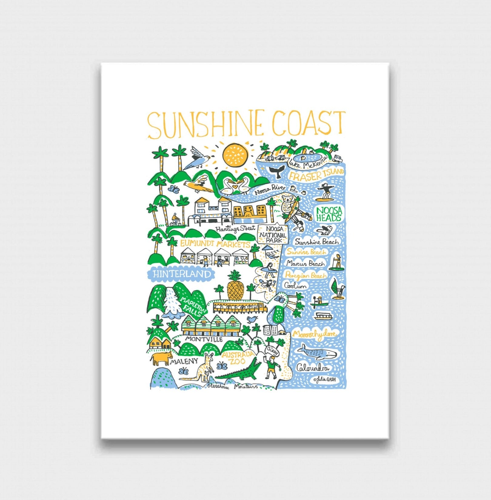 Sunshine Coast Art Print - Julia Gash