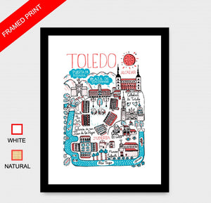 Toledo Art Print by British Travel Artist Julia Gash - Julia Gash