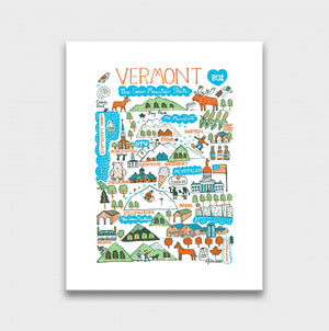 Vermont Art Print by British Travel Artist Julia Gash - Julia Gash