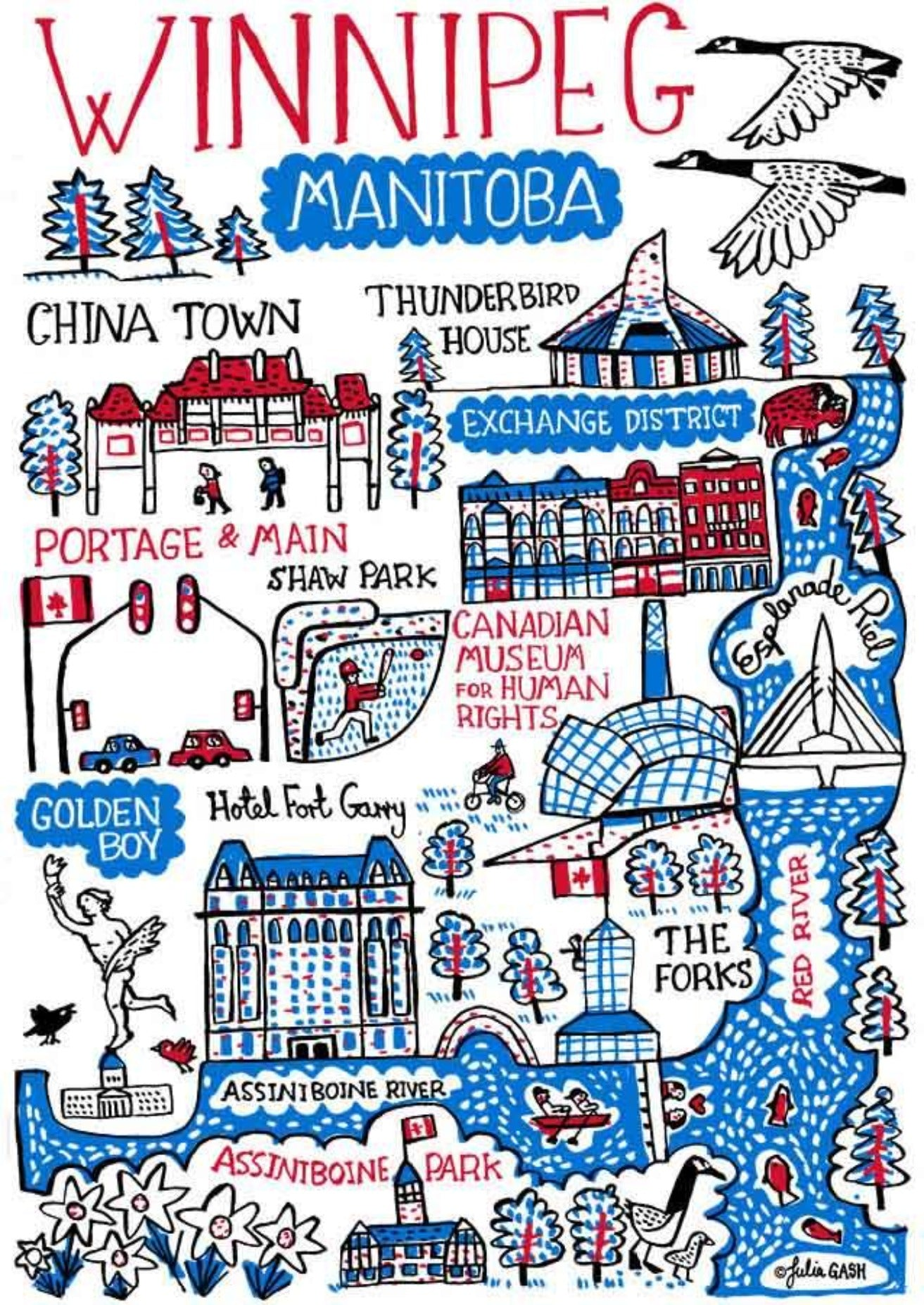 Winnipeg Art Print - Julia Gash