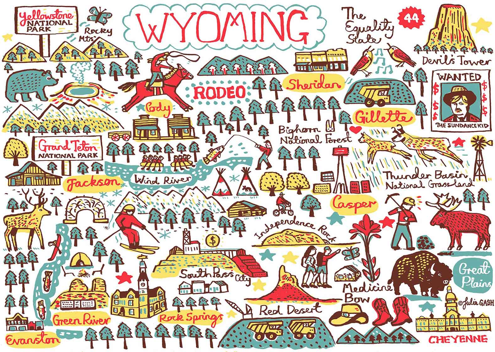Wyoming Art Print - Julia Gash