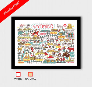 Wyoming Art Print by British Travel Artist Julia Gash - Julia Gash