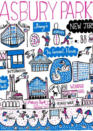 Asbury Park Art Print by British Travel Artist Julia Gash - Julia Gash