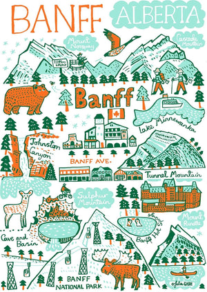 Banff Art Print by British Travel Artist Julia Gash - Julia Gash