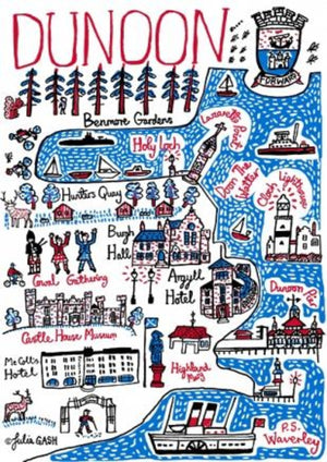 Dunoon Art Print by British Travel Artist Julia Gash - Julia Gash
