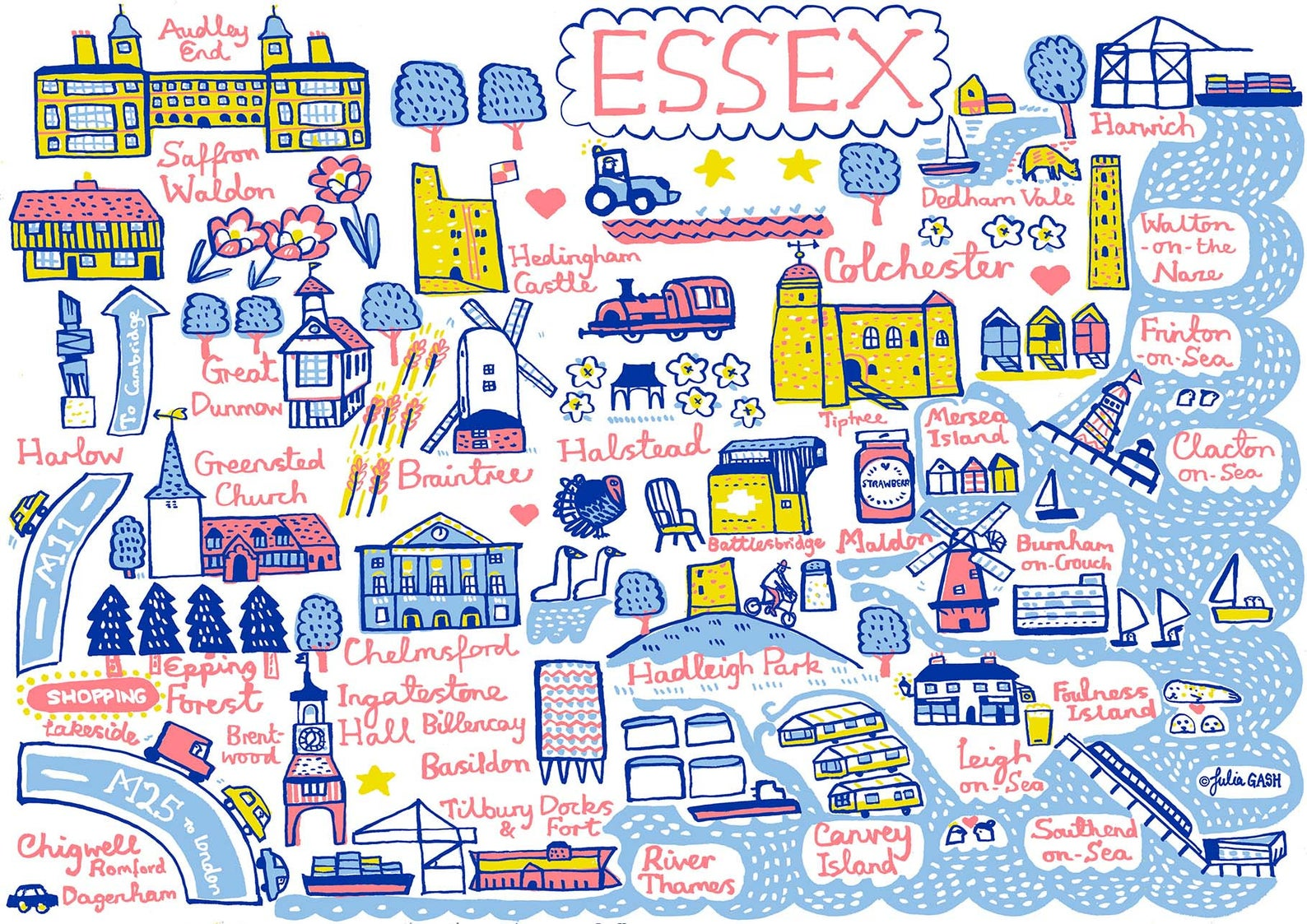 Essex Art Print - Julia Gash
