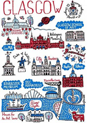 Glasgow Art Print by British Travel Artist Julia Gash - Julia Gash