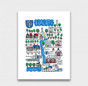 Hagen Art Print by British Travel Artist Julia Gash - Julia Gash