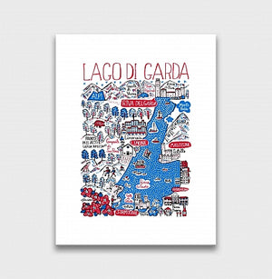 Lago Di Garda Art Print by British Travel Artist Julia Gash - Julia Gash