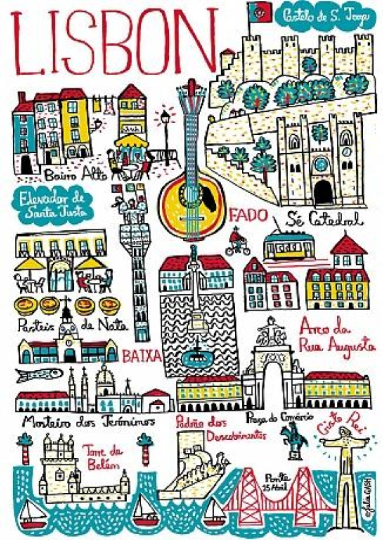 Lisbon Artwork - Julia Gash