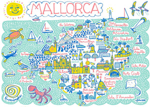 Mallorca Art Print by British Travel Artist Julia Gash - Julia Gash