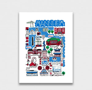 Mannheim Art Print by British Travel Artist Julia Gash - Julia Gash