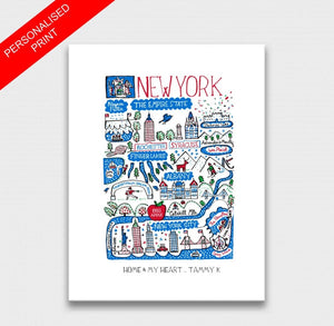 New York State Art Print - Julia Gash