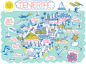Tenerife Art Print by British Travel Artist Julia Gash - Julia Gash