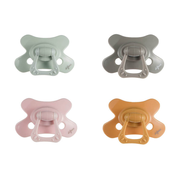 Pacifier Natural 6+ months Pure - Pistache|Clay|Blossom|Honey - 4 pcs