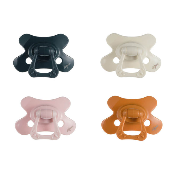 Pacifier Natural 12+ months Pure - Evening|Popcorn|Blossom|Pumpkin - 4 pcs