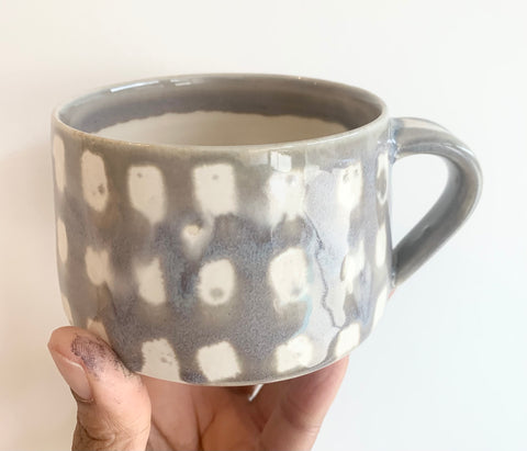Handmade Mug 1- AE Ceramics- Purple Plaid