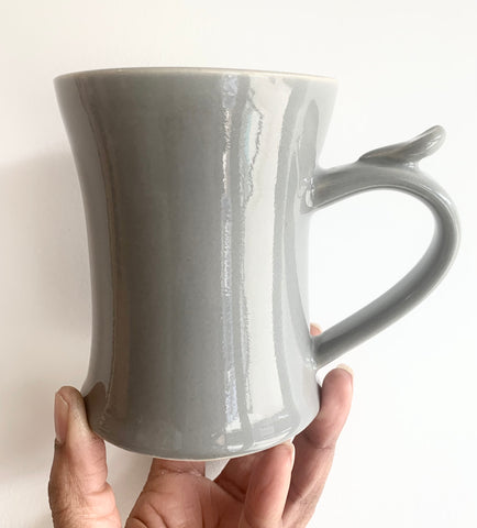 Handmade Mug 1- Pottery 32- Shiny Grey