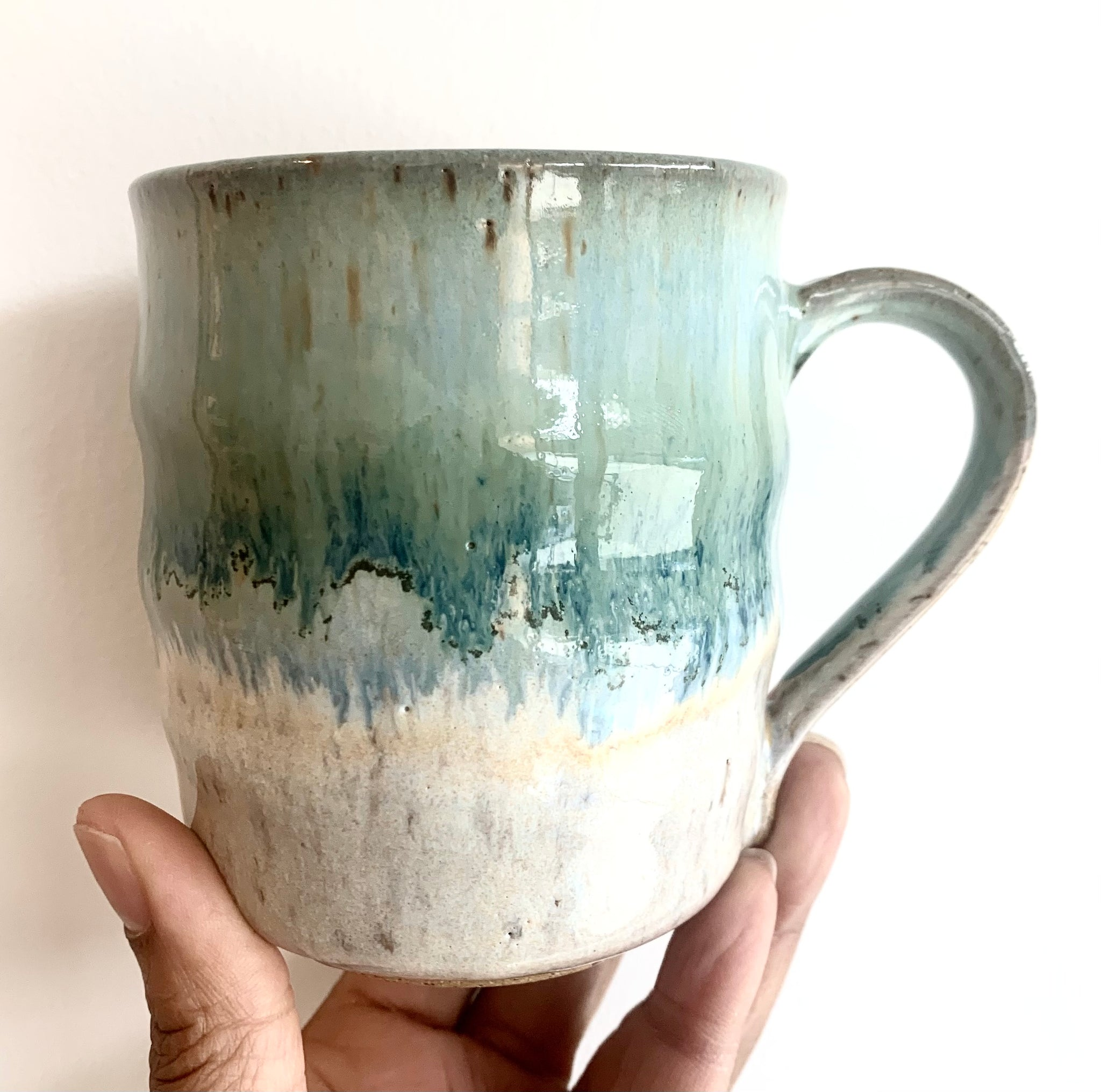 Handmade Mug 1- Sea Salt Water- White Mug