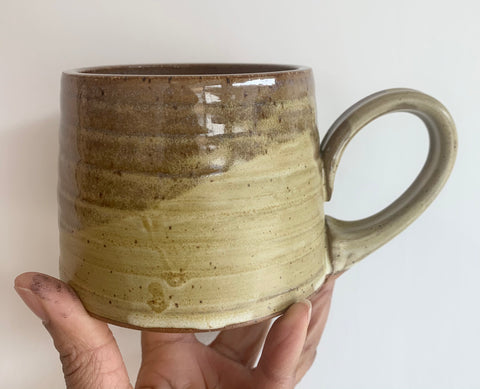 Handmade Mug 2-Clay Path Studio- Mustard Yellow