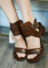 A.S. 98 | Kenya Layered Cuff Sandals in Chestnut