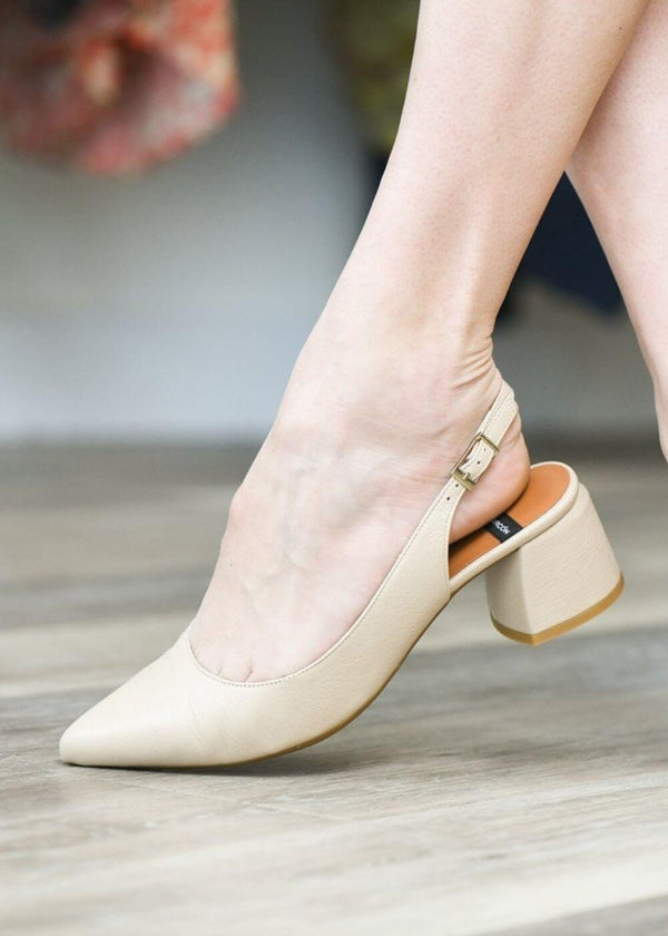 Angel Alarcon | Simple Slingback Mules in Nude