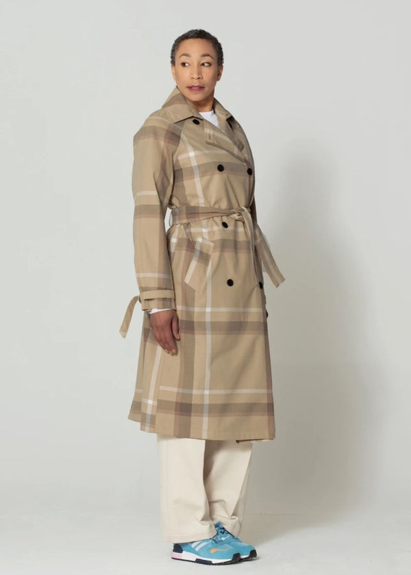 GoFranck Outerproofs |  Slush Waterproof Trenchcoat with Hood in Plaid