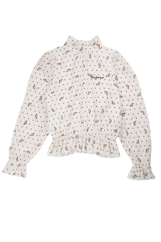 Look Back On Me Tulip Blouse / White