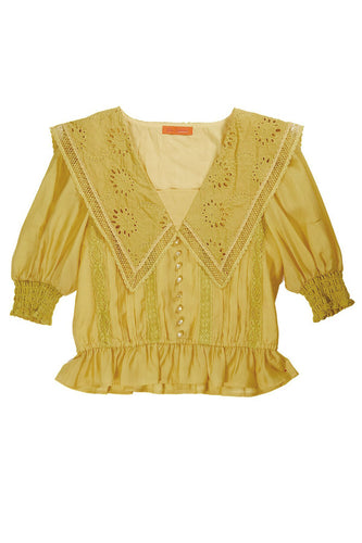 Lacy Sailor Blouse / Yellow