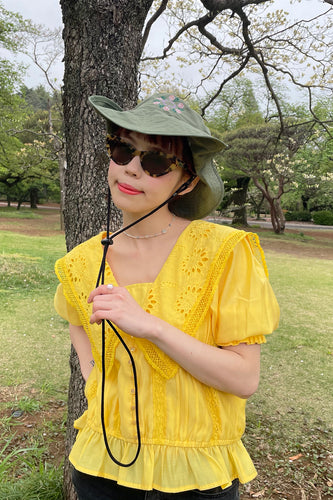 【新色】Lacy Sailor Blouse / Yellow2