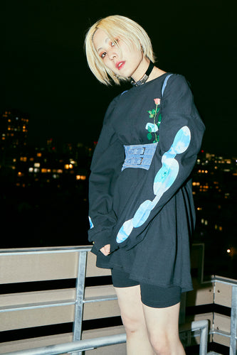 Cloudy Eyes L/S T / Black