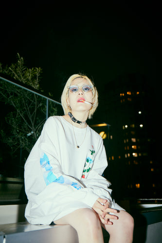 Cloudy Eyes L/S T / White