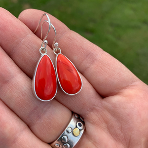 Rosarita Teardrop Silver Earrings