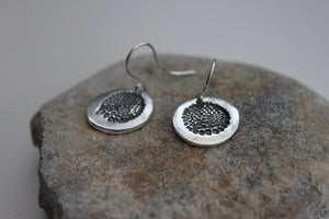 Organic Bauble Silver Dangle Earrings