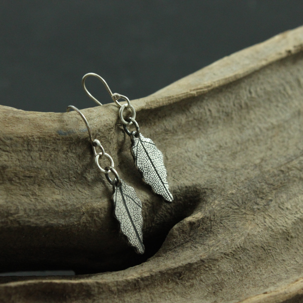 Long Leaf Sterling Silver  Earrings