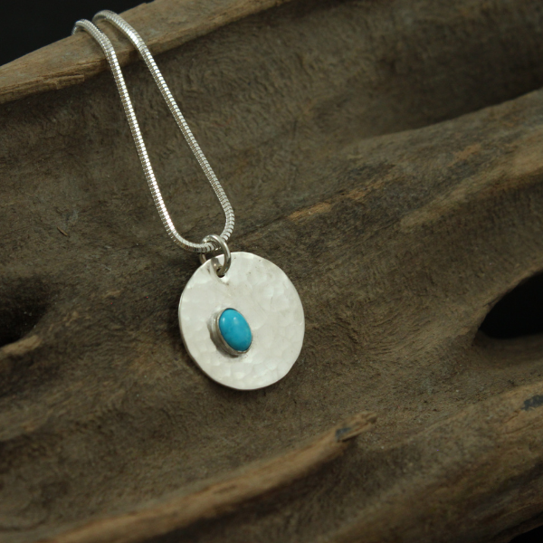 "Turquoise Pendant on 18"" chain- Reserved for Linda"